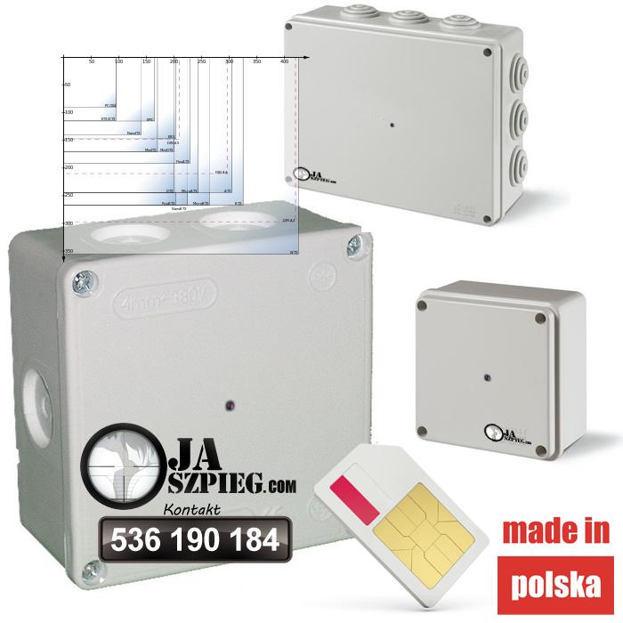Ukryta kamera łączeniowa puszka elektryczna – wideo 3G/GSM – Box01d - Sklep minikamery.net
