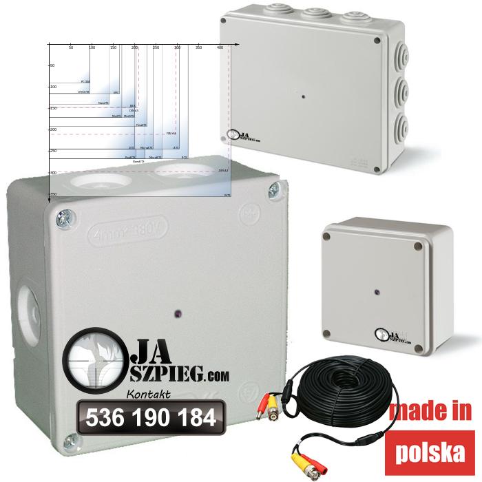 Ukryta kamera łączeniowa puszka elektryczna – kabel– Box02d - Sklep kameryszpiegowskie.com