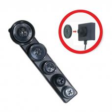 Spy Kit - Przyciski do ukrytej kamery - Przycisk Montaż - Kolor Czarny