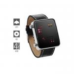 ukryta kamera dvr w zegarku binarny LED 4GB – zegarek binarny LED – zegarek na rękę LED – DVRZ2
